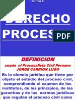Tema II- Derecho Procesal Civil