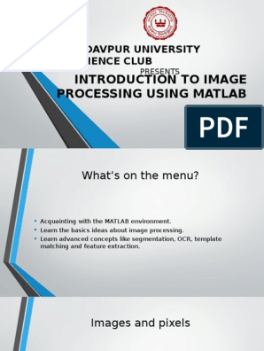 Image Processing Using Matlab | Image Segmentation | Cybernetics
