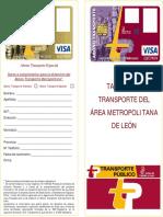 Diptico Transporte Metropolitano Leon