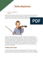 Teaching Violin Beginners