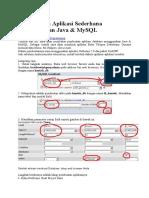 Membangun Aplikasi Sederhana Menggunakan Java