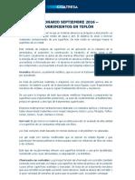 Diccionario Septiembre 2016 - Recubrimientos en Teflón