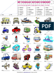 means of transport vocabulary matching exercise worksheet.pdf