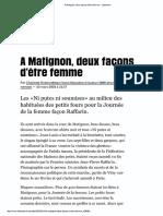 C. Rotman, À Matignon, deux façons d'être femme (2003)