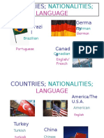 Countries Nationalities