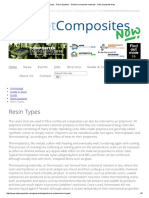 Resin Types - Resin Systems - Guide to Composite Materials - NetComposites Now