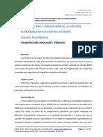 gestión económica de centro