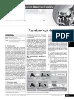 ABANDONO LEGAL DE MERCANCIAS
