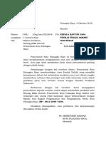 Surat Pemrohonan Penilaian Ke KJPP Tanggal 4 Oktober 2016