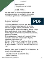 Parra Sanchez Alberto Tomas - Las Parabolas de Jesus