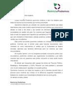 Carta de Reiniciar Podemos