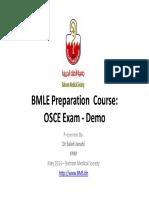 Dr Saleh Janahi - BMLE OSCE Exam - Demo - Bahrain Medical Society