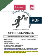 Poster Bas Cp Miquel Porcel 1617