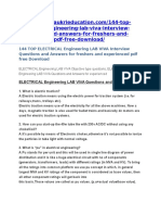 144 TOP ELECTRICAL Engineering LAB VIVA Interview Questions and Answers