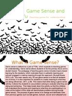 Game Sense Slide 1