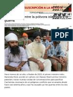 Higinio Polo. Cachemira, Entre La Pólvora Islamista y La Guerra, 4-10-16