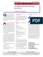 PD Blower Maintence Details General