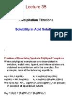 Precipitation Titrations