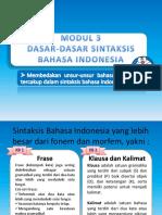 Modul 3 Bahasa Indonesia Pgsd