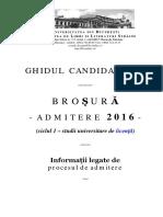 Ghidul Candidatului Admitere FLLS 2016 Partea I