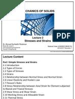 KA20903 - Lecture 2 Stress Strains