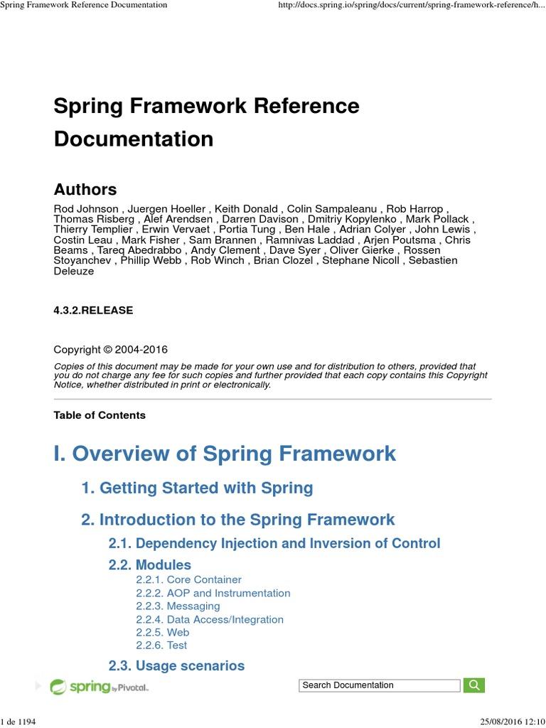 Spring Documentation Pdf
