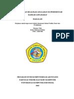Anggaran Dan Realisasi Anggaran Di Pemerintah Daerah Jawa Barat