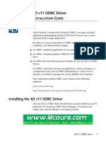 4d v11 Odbc Driver Installation Guide