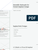 Scientific Rationale for Dental Implant Design