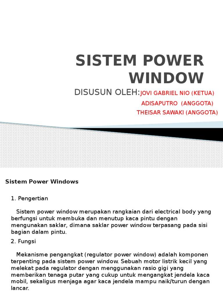 Sistem Power Window 2