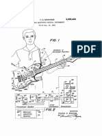 "U.S. patent 3,085,460, entitled ""Portable Electronic Musical Instruments"", issued 1963."