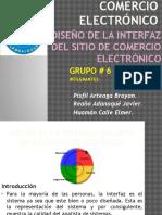 Interfaz Del Sitio de Comercio Electronico
