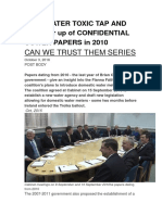Irish Water Toxic Tap and the Cover Up of Confidential Cowen Papers in 2010