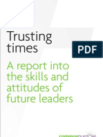 Trusting Times - the skills and attitudes of future leaders