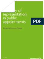 Diversity of Rrepresentation in public appointments