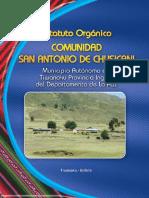 Estatuto Orgánico Comunidad San Antonio de Chusicani