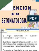 Clase Prevención en estomatología