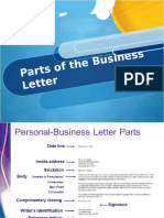 Parts of the Business Letter
