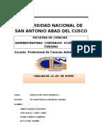 Analisis de La Ley de Mypes Practicas Pre Profesionales 1