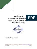 Código Asme Sección v Articulo 6 - 2015