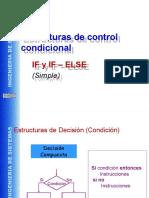 Estructuras de Control (if-else)