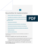 Autism - 00 Key Priorities for Implementation