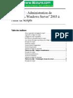 Administration de Microsoft Windows Server 2003 l Aide de Scripts