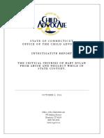 Child Advocate Report OCA Investigative Report Dylan C 100416