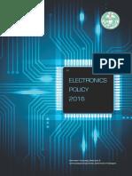 Telangana Electronics Policy 2016