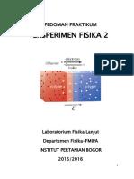 Pedoman Eksperimen Fisika 2 - 2016