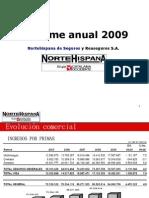 NorteHispana, Informe Anual ejercicio 2009