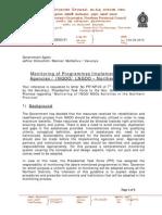 Circular - Monitoring of Programmes Implemented by UN Agencies / INGOO/ LNGOO