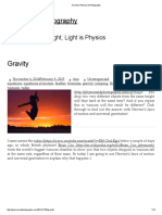 Gravity _ Physics & Photography