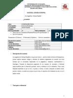 Syllabus Español (2015 Ciclo II)